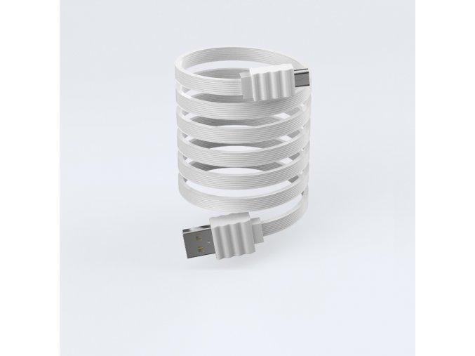 Kabel Lightning pro iPhone a iPad - Devia, Flat White