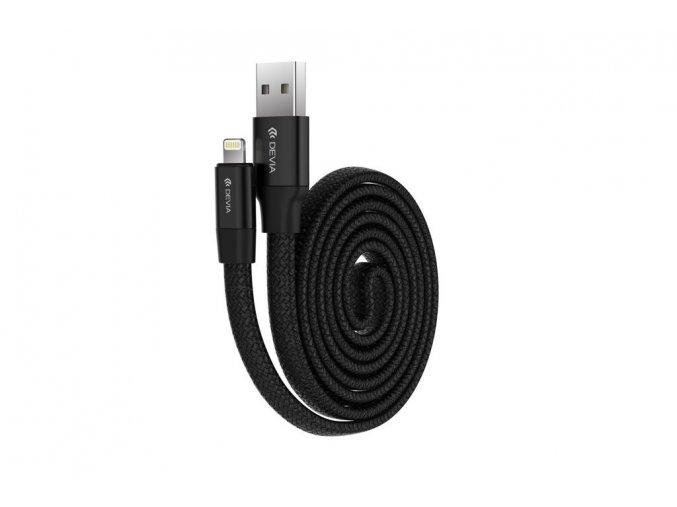 Kabel Lightning pro iPhone a iPad - Devia, Ring Black