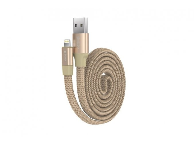 Kabel Lightning pro iPhone a iPad - Devia, Ring Gold