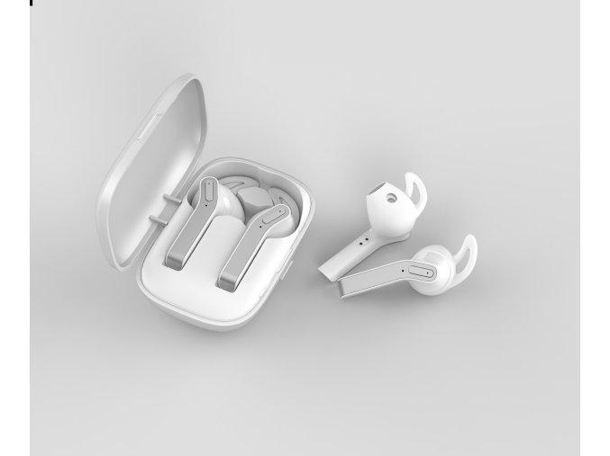 Bezdrátová sluchátka pro iPhone a iPad - Devia, Kintone TWS White