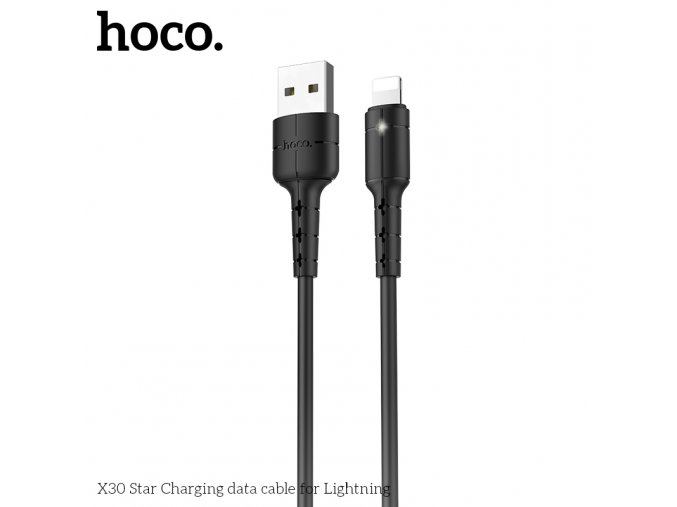 Kabel Lightning pro iPhone a iPad - Hoco, X30 Star Black