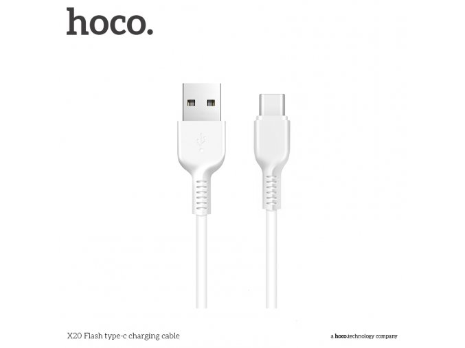 Kabel USB-C - Hoco, X20 White 200cm