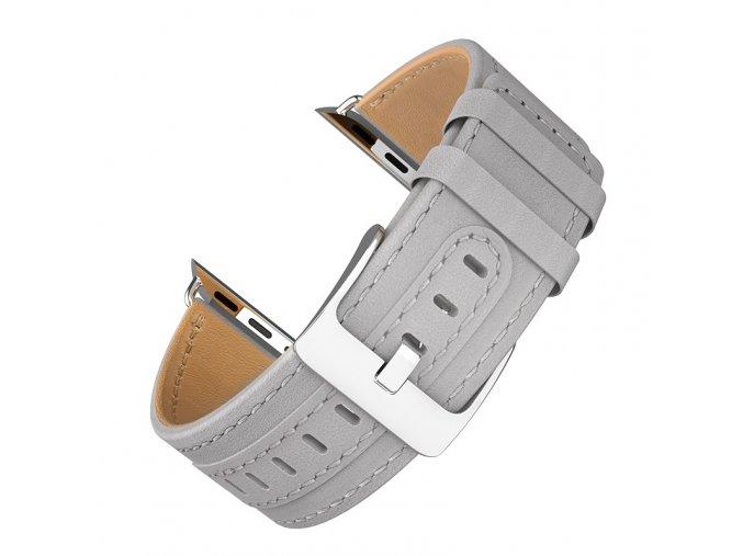 Kožený řemínek pro Apple Watch 42mm / 44mm - HOCO, WB04 Duke Gray