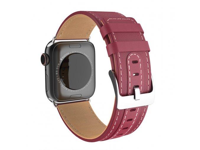 Kožený řemínek pro Apple Watch 42mm / 44mm - HOCO, WB04 Duke Wine