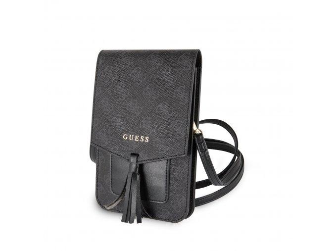 Univerzální pouzdro / taška s kapsou na mobil - Guess, 4G Wallet Black