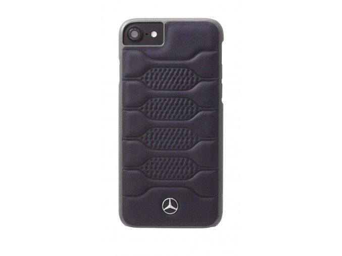Ochranný kryt pro iPhone 8 / 7 / 6s / 6 - Mercedes-Benz, Leather Cover Blue