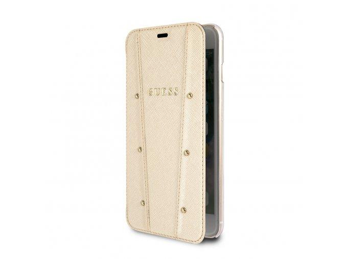 Pouzdro / kryt pro iPhone 7 Plus / 8 Plus - Guess, Kaia Book Gold