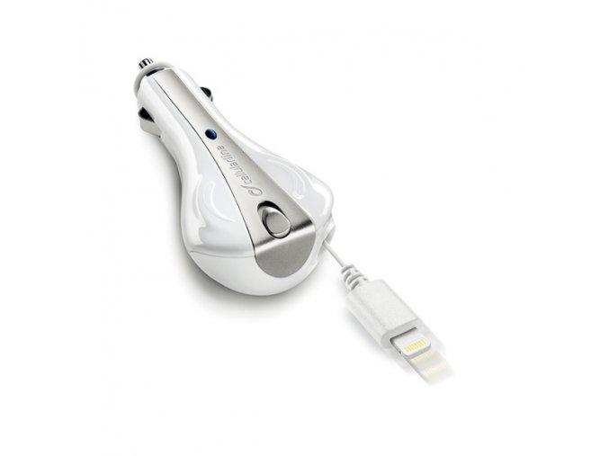 Auto-nabíječka s Lightning kabelem pro iPhone - CellularLine, s navíjecím kabelem