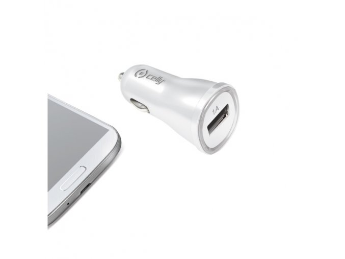 Auto-nabíječka pro iPhone / iPod touch - CELLY, 1A White
