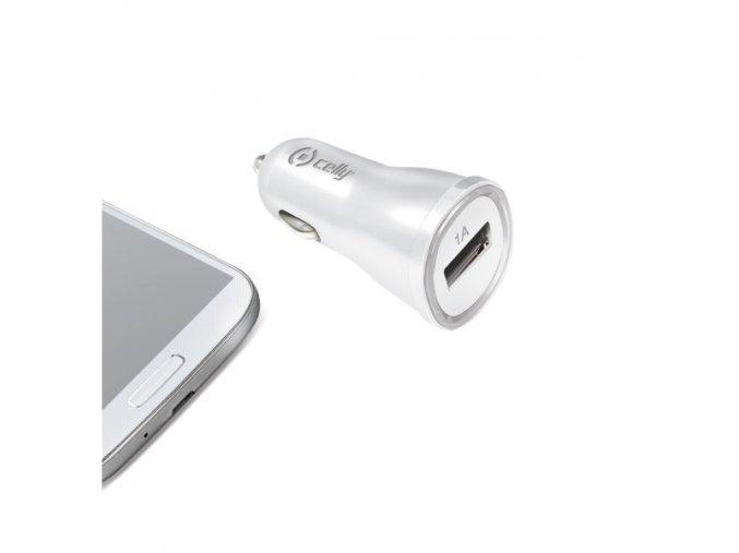 Auto-nabíječka pro iPhone - CELLY, 1A White