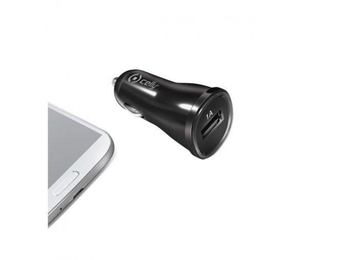 Auto-nabíječka pro iPhone / iPod touch - CELLY, 1A Black