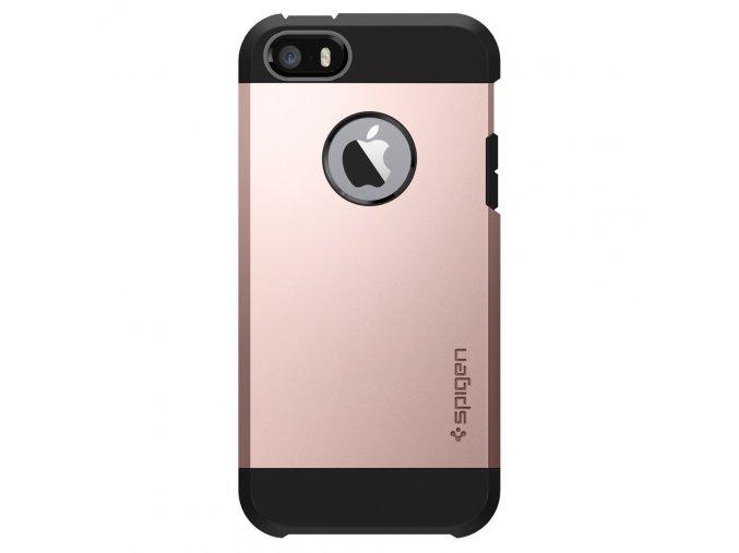 Pouzdro / kryt pro Apple iPhone 5 / 5S / SE - Spigen, Tough Armor Rose Gold