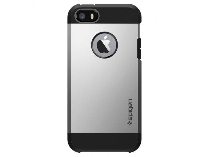 Pouzdro / kryt pro Apple iPhone 5 / 5S / SE - Spigen, Tough Armor Satin Silver