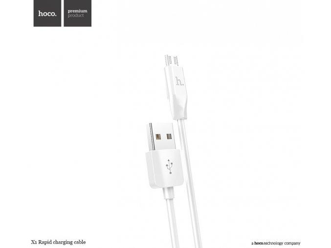 Kabel MICRO-USB - Hoco, X1 White 100cm