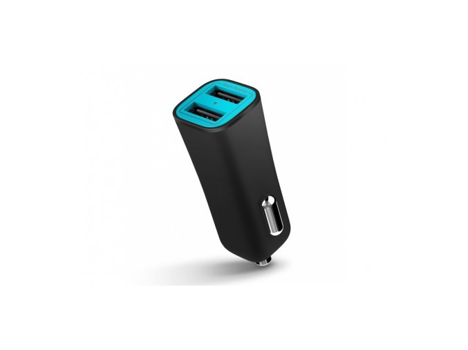Auto-nabíječka pro iPhone a iPad - iLuv, Smart Charger Black