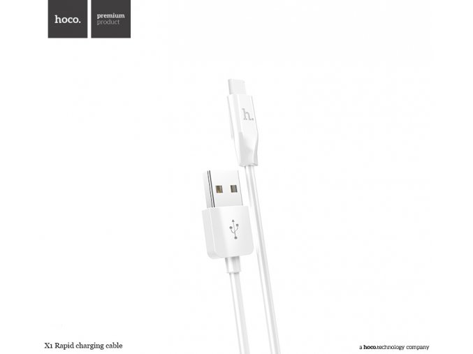 Kabel USB-C TYPE-C - Hoco, X1 White 100cm