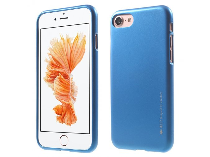 Pouzdro / kryt pro Apple iPhone 7 / 8 - Mercury, i-Jelly Blue