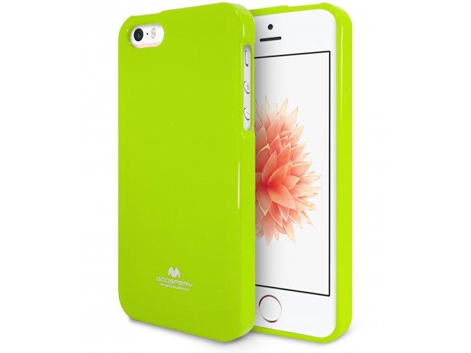 Pouzdro / kryt pro Apple iPhone 5 / 5S / SE - Mercury, Jelly Case Lime