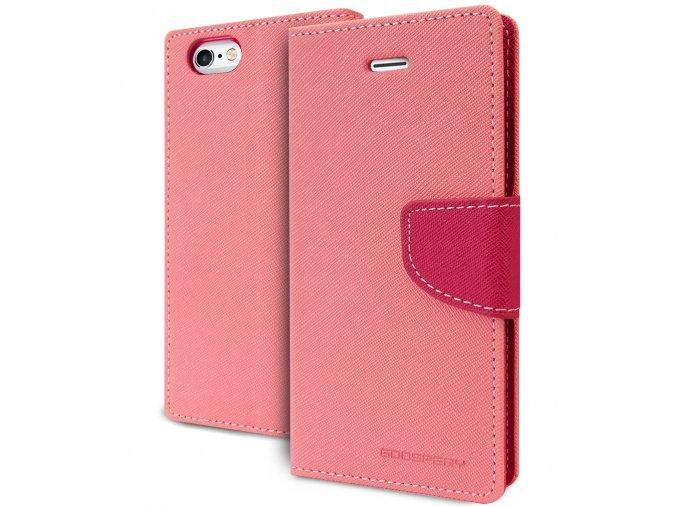 Pouzdro / kryt pro Apple iPhone 6 / 6S - Mercury, Fancy Diary Pink/Hotpink