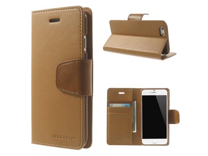 Pouzdro / kryt pro Apple iPhone 6 / 6S - Mercury, Sonata Diary Camel