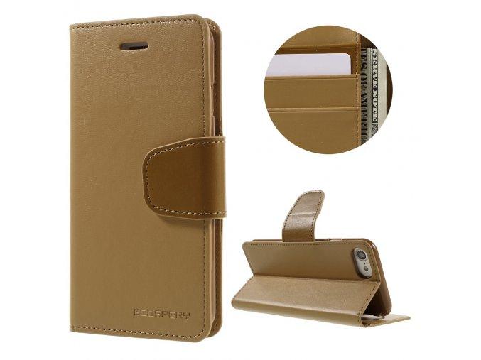 Pouzdro / kryt pro iPhone 7 / 8 - Mercury, Sonata Diary Camel