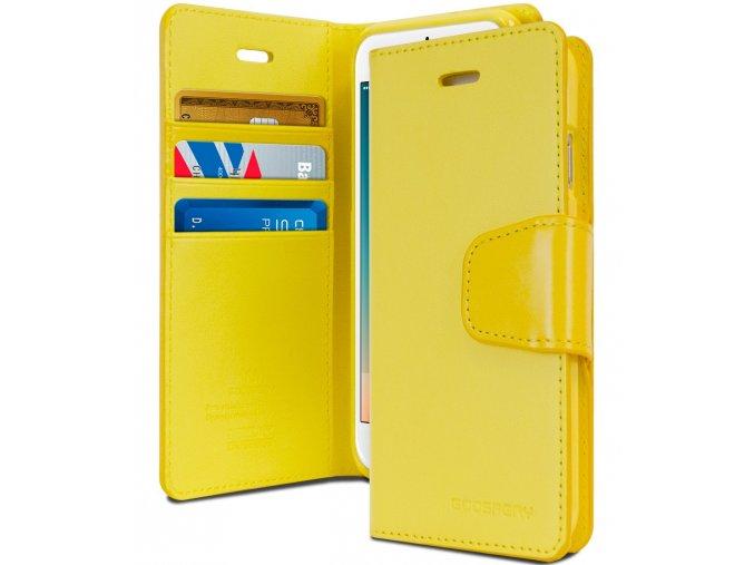 Pouzdro / kryt pro iPhone 7 / 8 - Mercury, Sonata Diary Yellow