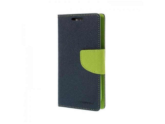 Pouzdro / kryt pro Samsung Galaxy S7 EDGE - Mercury, Fancy Diary Navy/Lime