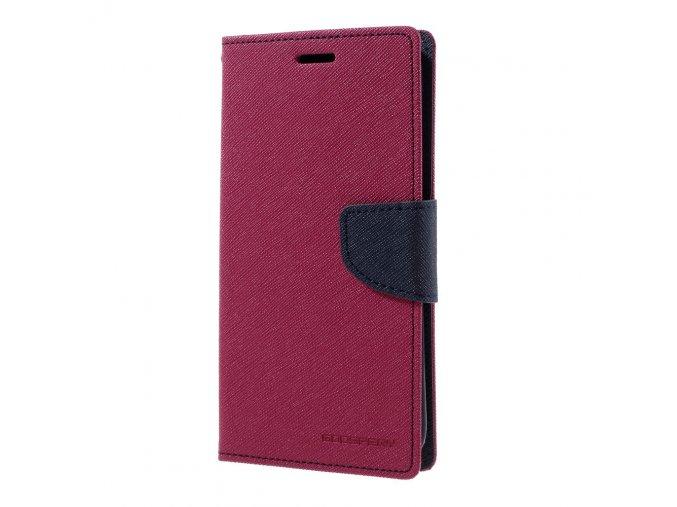Pouzdro / kryt pro Samsung Galaxy S7 EDGE - Mercury, Fancy Diary Hotpink/Navy