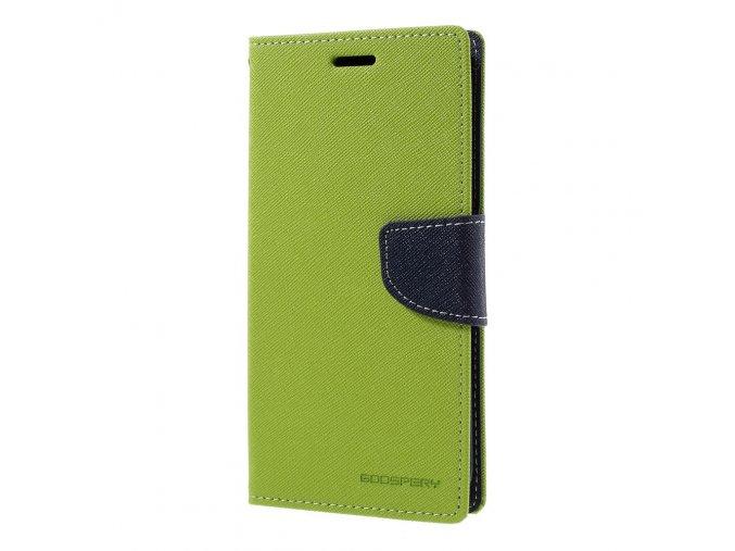 Pouzdro / kryt pro Samsung Galaxy S7 EDGE - Mercury, Fancy Diary Lime/Navy