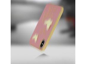 Ochranný kryt pro iPhone X - Guess, Studs and Sparkle RoseGold Back