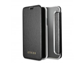 Pouzdro / kryt pro iPhone XS / X - Guess, Iridescent Black Book