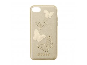 Pouzdro / kryt pro Apple iPhone 8 / 7 / 6S / 6 - Guess, Studs and Sparkle Beige Back