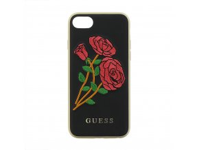 Pouzdro / kryt pro Apple iPhone 8 / 7 / 6S / 6 - Guess, Flower Desire Black Back