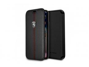 Ochranný kryt / pouzdro pro iPhone X - Ferrari, OffTrack Book Black
