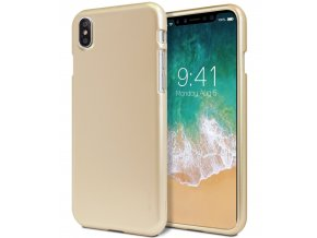 Ochranný kryt pro iPhone XS / X - Mercury, i-Jelly Gold