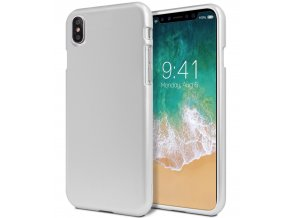 Ochranný kryt pro iPhone XS / X - Mercury, i-Jelly Silver