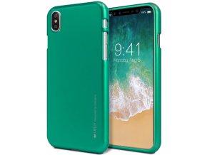 Ochranný kryt pro iPhone XS / X - Mercury, i-Jelly Green