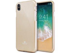 Ochranný kryt pro iPhone XS / X - Mercury, Jelly Case Gold