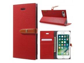 Pouzdro / kryt pro iPhone 7 / 8 - Mercury, Romance Diary RED/ORANGE