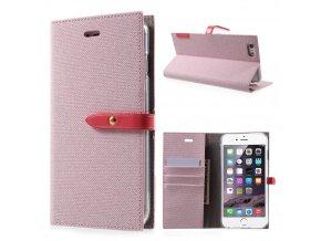 Pouzdro / kryt pro iPhone 6 / 6S - Mercury, Milano Diary PINK/PINK