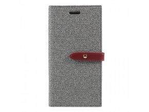 Pouzdro / kryt pro iPhone XS / X - Mercury, Milano Diary GREY/WINE