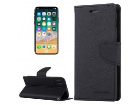 Pouzdro / kryt pro iPhone XS / X - Mercury, Fancy Diary BLACK/BLACK