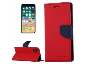 Pouzdro / kryt pro iPhone XS / X - Mercury, Fancy Diary RED/NAVY