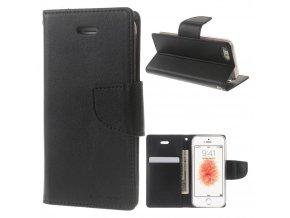 Pouzdro / kryt pro iPhone 5 / 5S / SE - Mercury, Bravo Diary BLACK