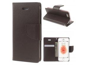 Pouzdro / kryt pro iPhone 5 / 5S / SE - Mercury, Bravo Diary BROWN