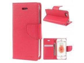 Pouzdro / kryt pro iPhone 5 / 5S / SE - Mercury, Bravo Diary HOTPINK