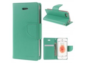 Pouzdro / kryt pro iPhone 5 / 5S / SE - Mercury, Bravo Diary MINT