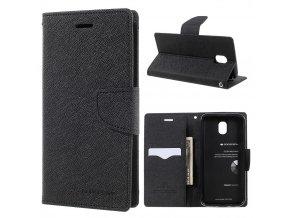 Pouzdro / kryt pro Samsung GALAXY J5 (2017) J530 - Mercury, Fancy Diary BLACK/BLACK