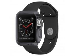 Pouzdro / kryt pro Apple Watch 38mm - Spigen, Slim Armor Gray