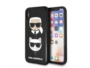 Ochranný kryt pro iPhone XS / X - Karl Lagerfeld, Choupette Black